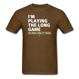 I'm playing the long game Men's T-Shirt - brown