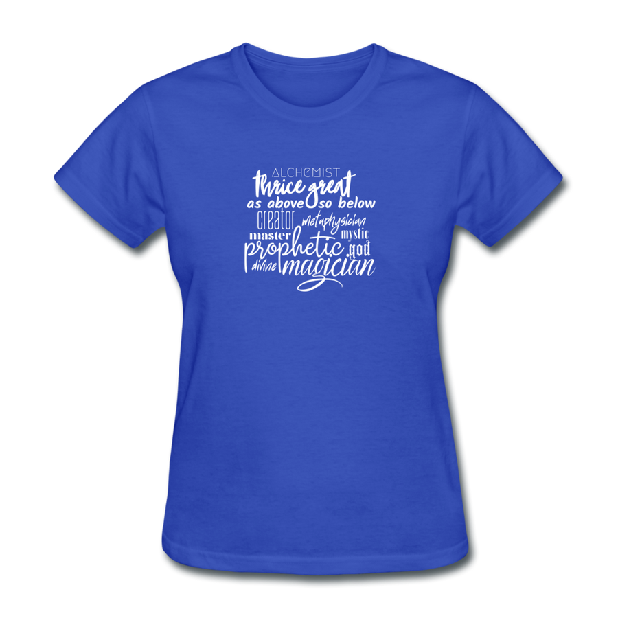 Magic Words Women's T-Shirt - royal blue
