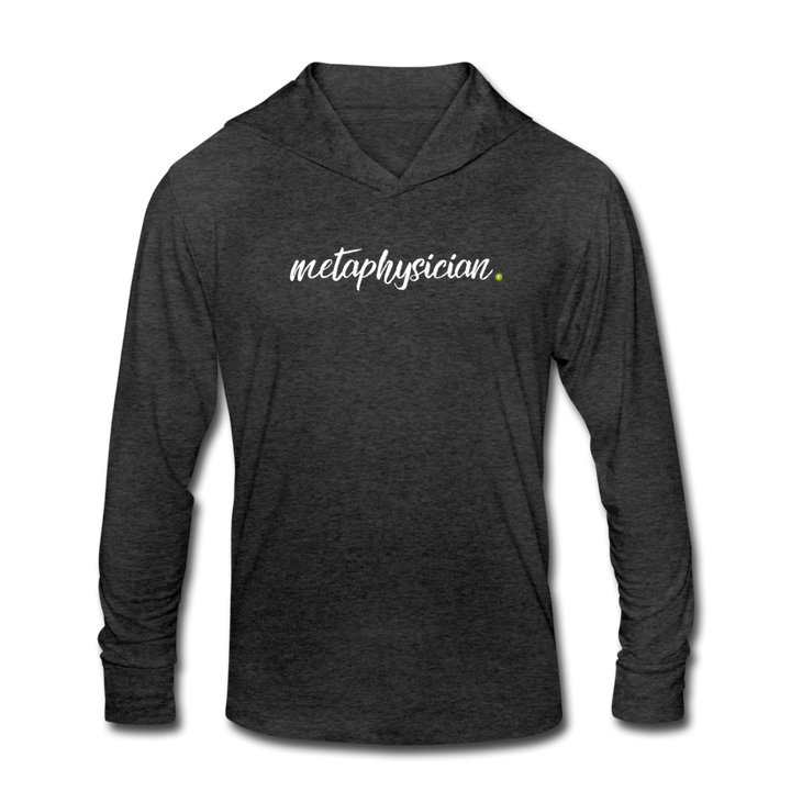 Metaphysician Unisex Tri-Blend Hoodie Shirt - heather black