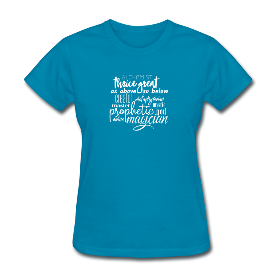 Magic Words Women's T-Shirt - turquoise