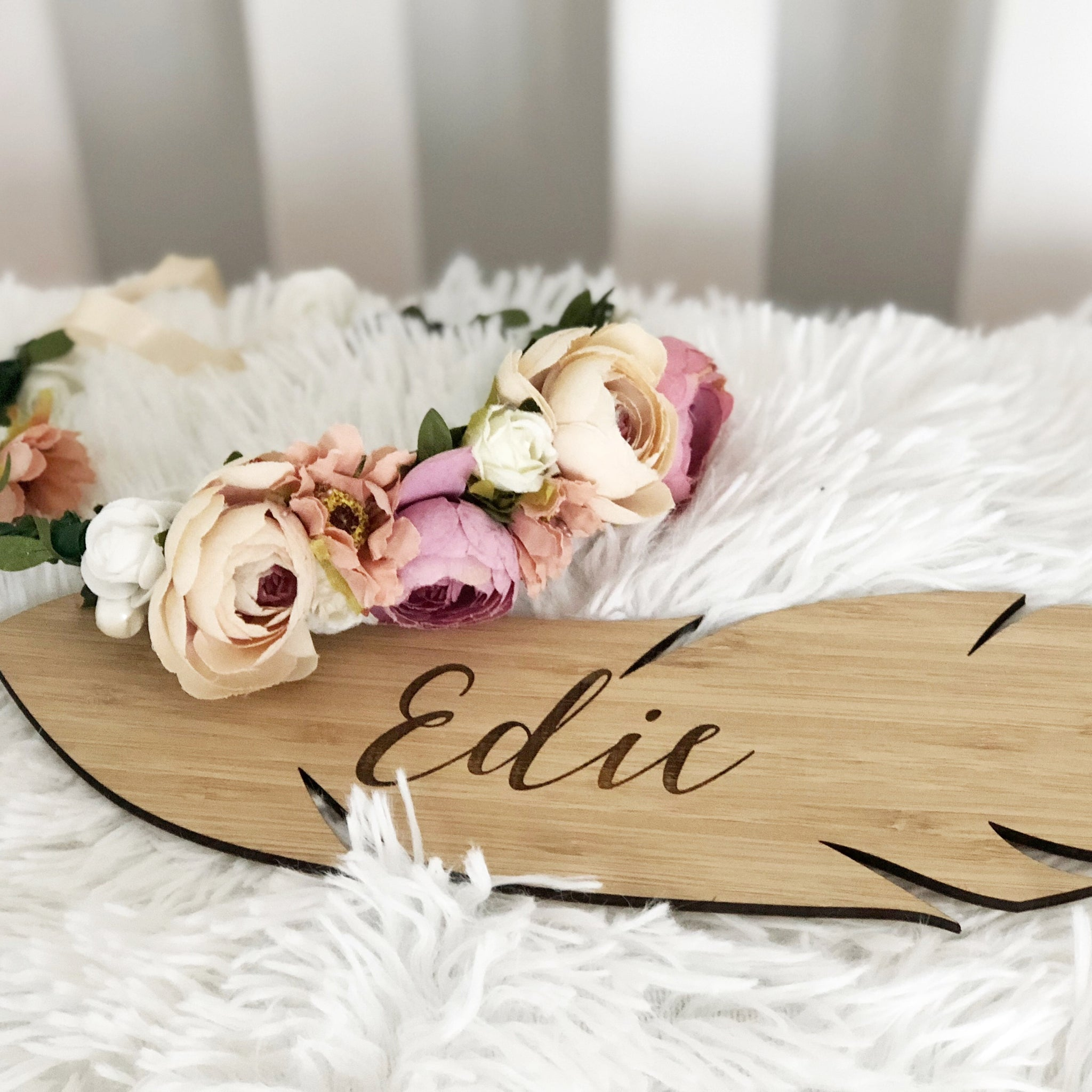 Feather Name Plaque