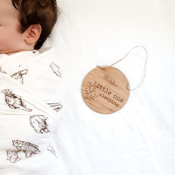 Shhh Little One Sleeping Plaque