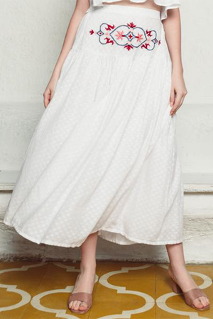 Shah Cotton Flare Skirt
