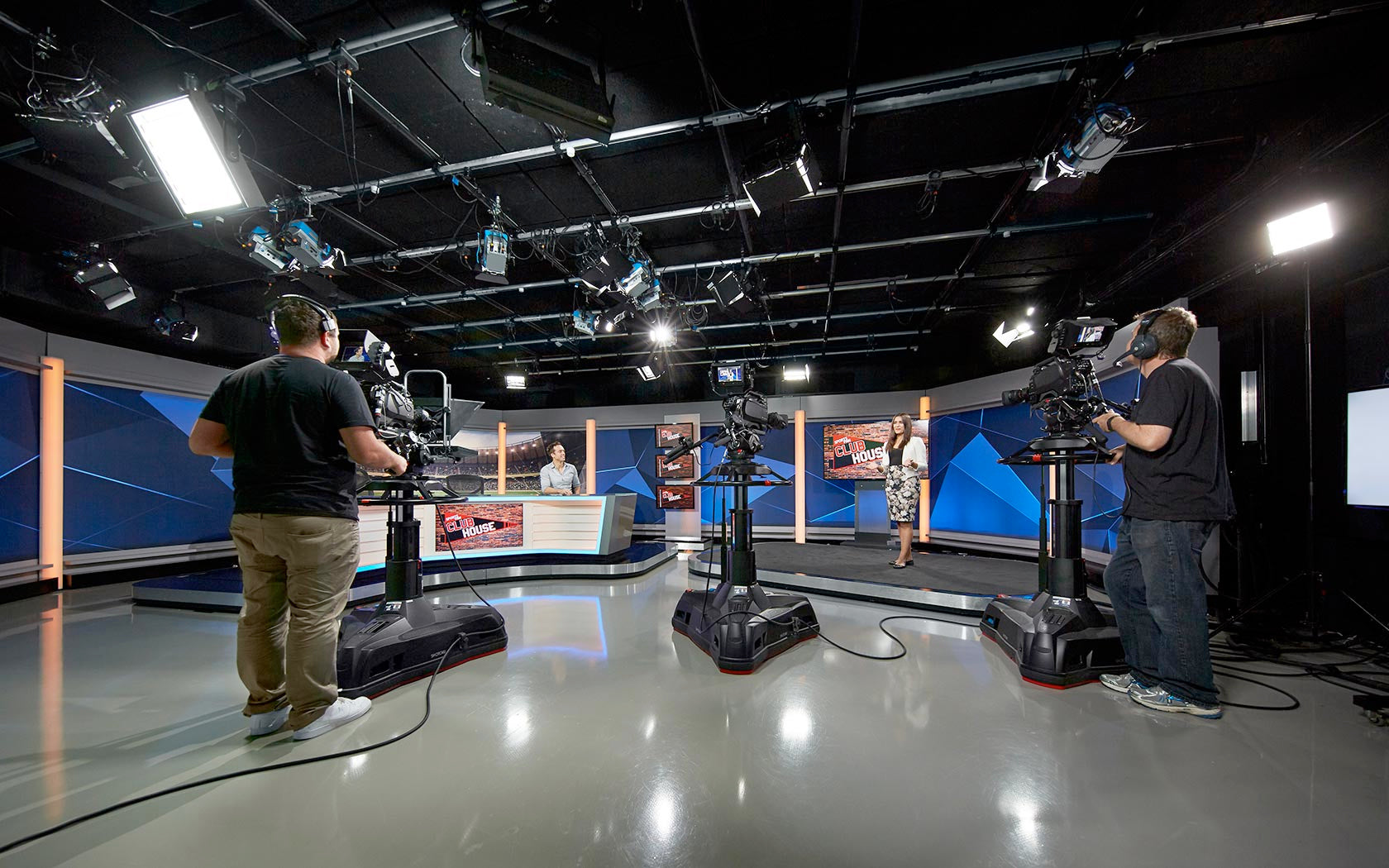 Chief Entertainment Studio with ARRI LED fresnels and BB&S Soft Lights