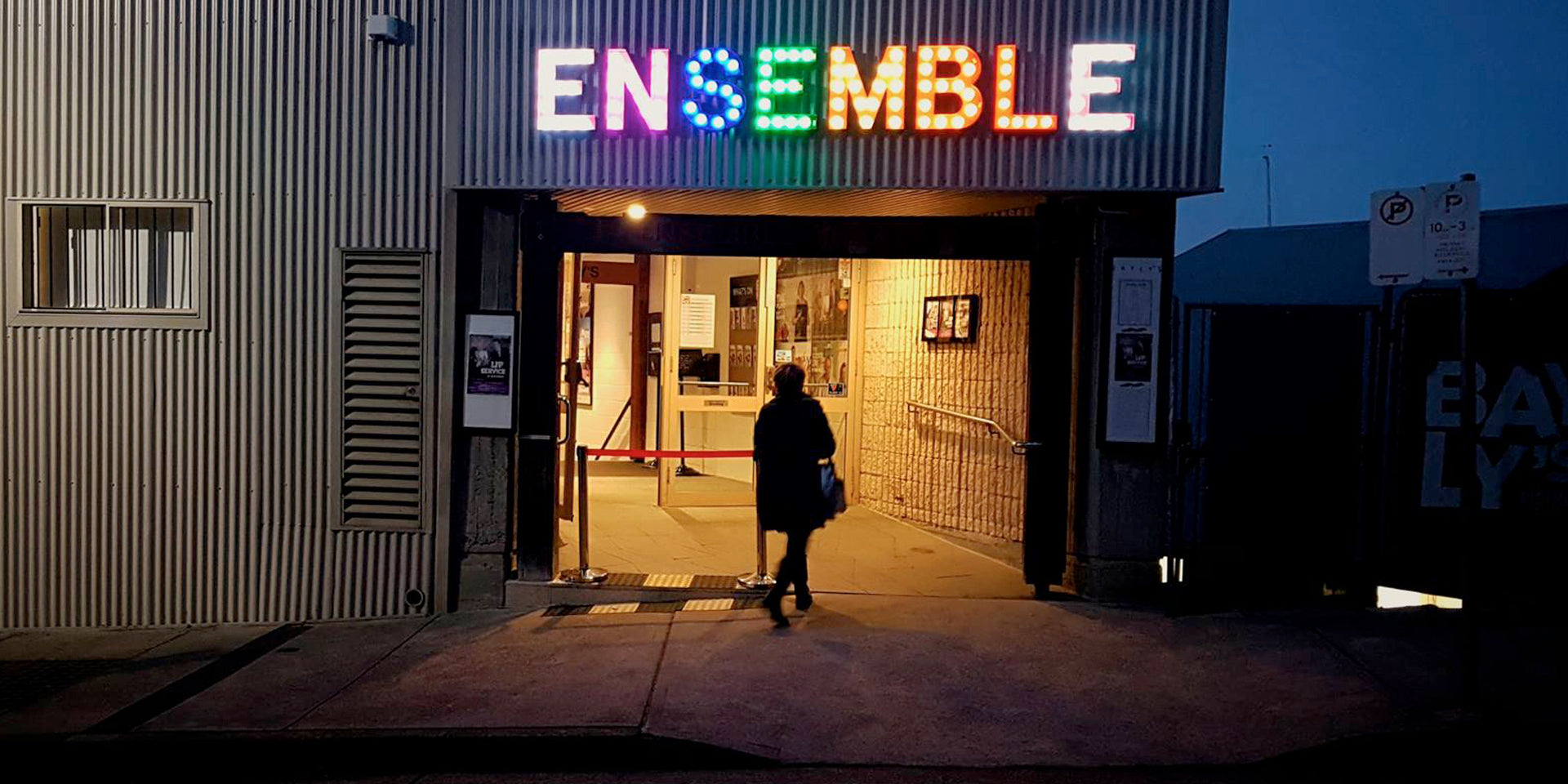Ensemble Theatre Sign and Entry