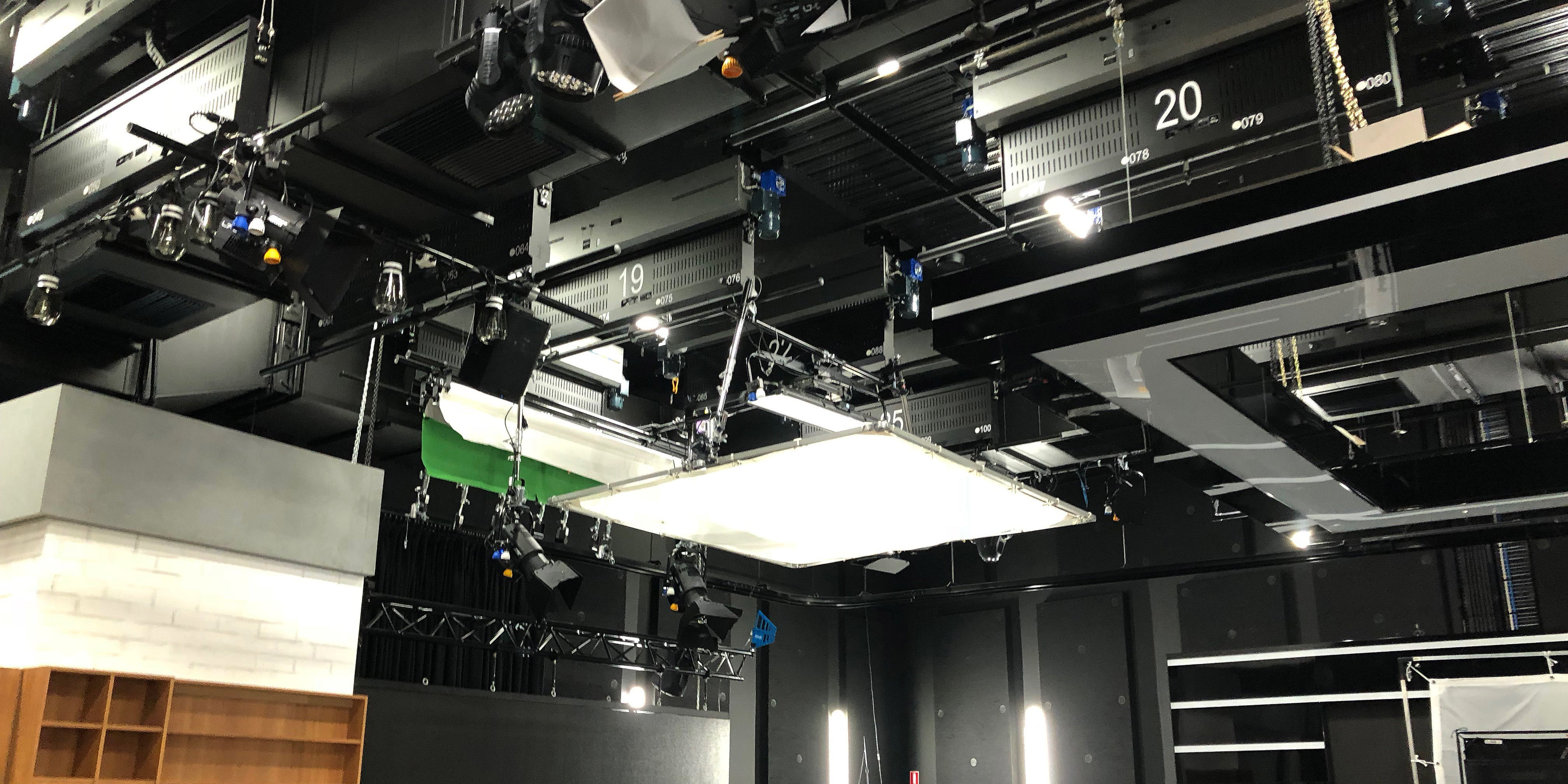 ARRI LED panels, Fresnels and complex control installations featuring a DMX over Ethernet system