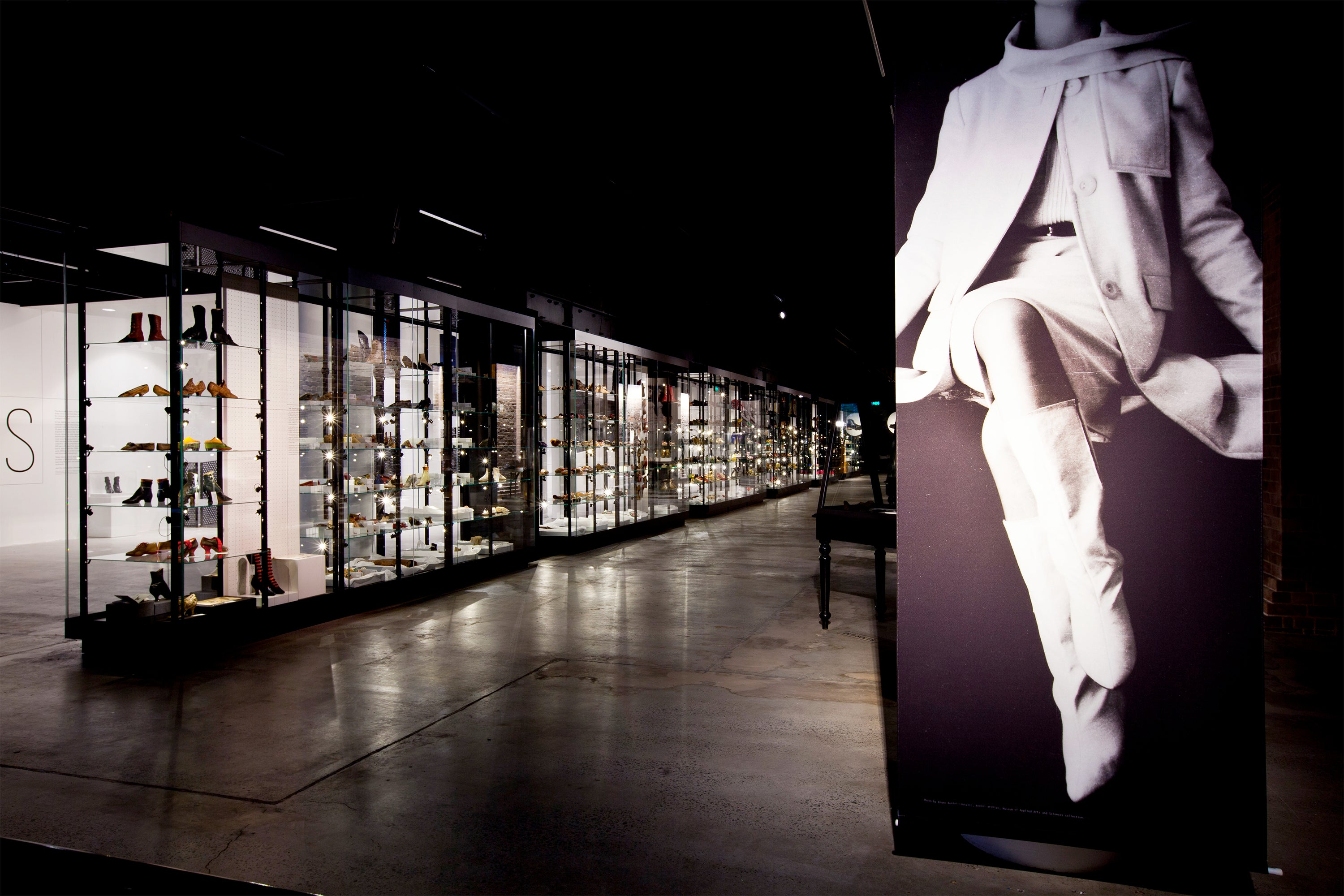 Powerhouse Museum RECOLLECT: Shoes exhibition walkway