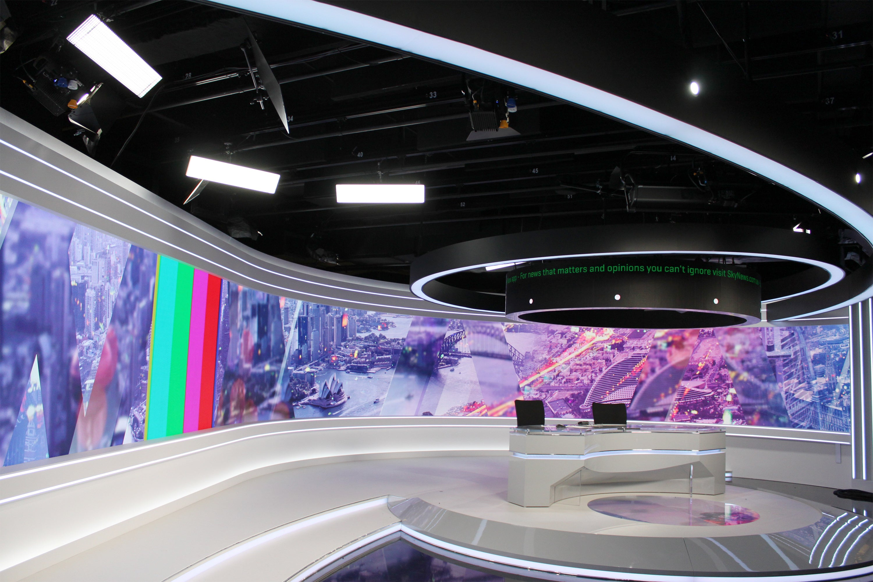 Full LED Studio fitout at Sky Business Channel