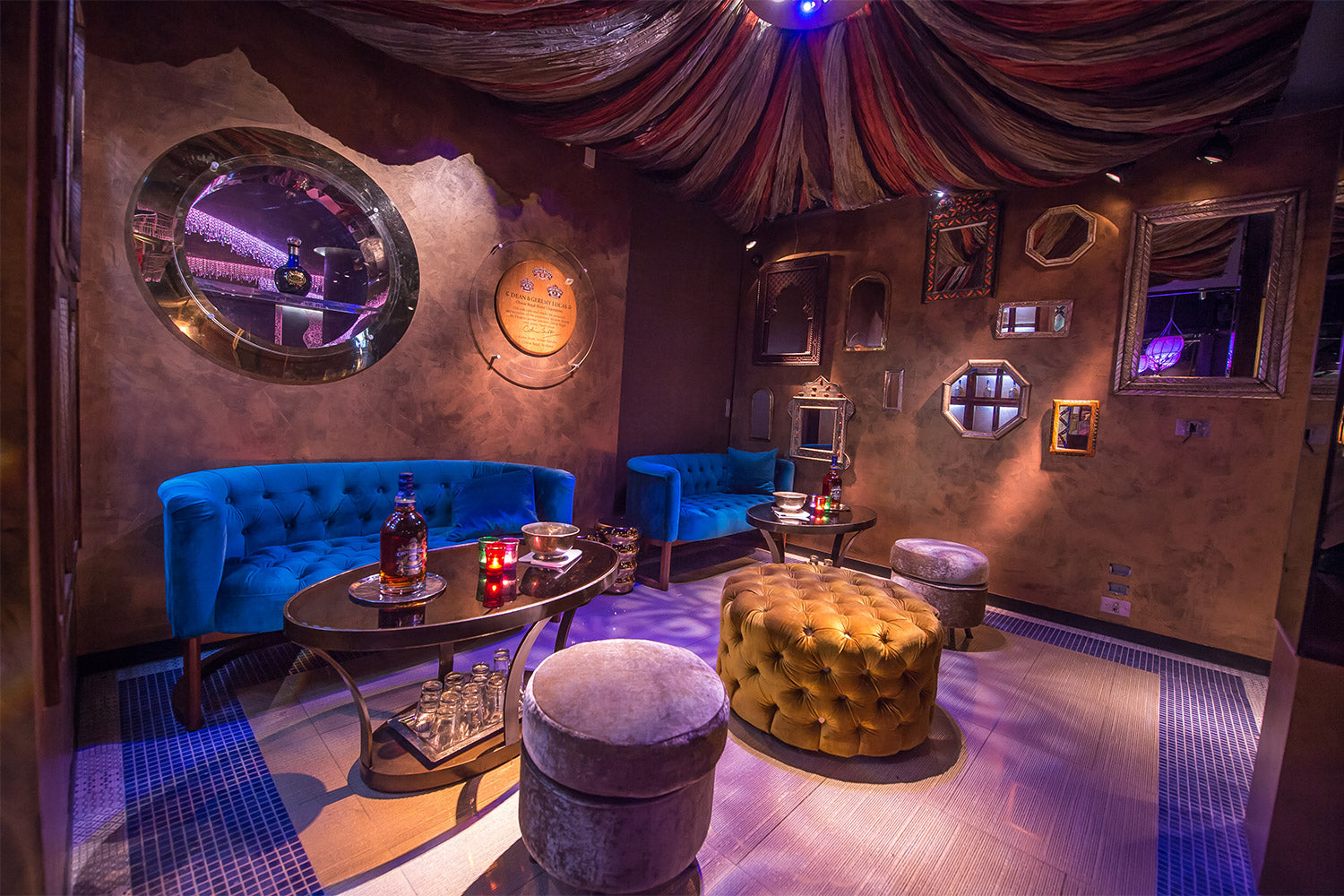 Supply of specialist lighting for nightclub & Bar fitout with a middle eastern flair