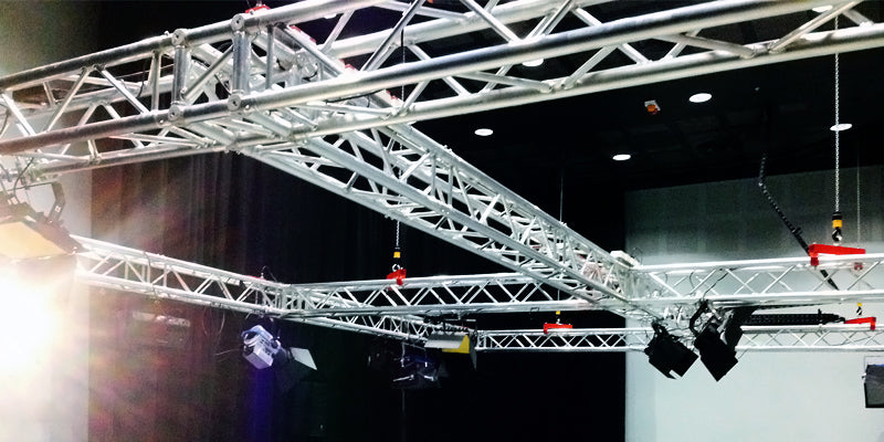 Installation of control and lighting equipment ARRI LED Fresnel's and Altman colour LED Cyc fixtures