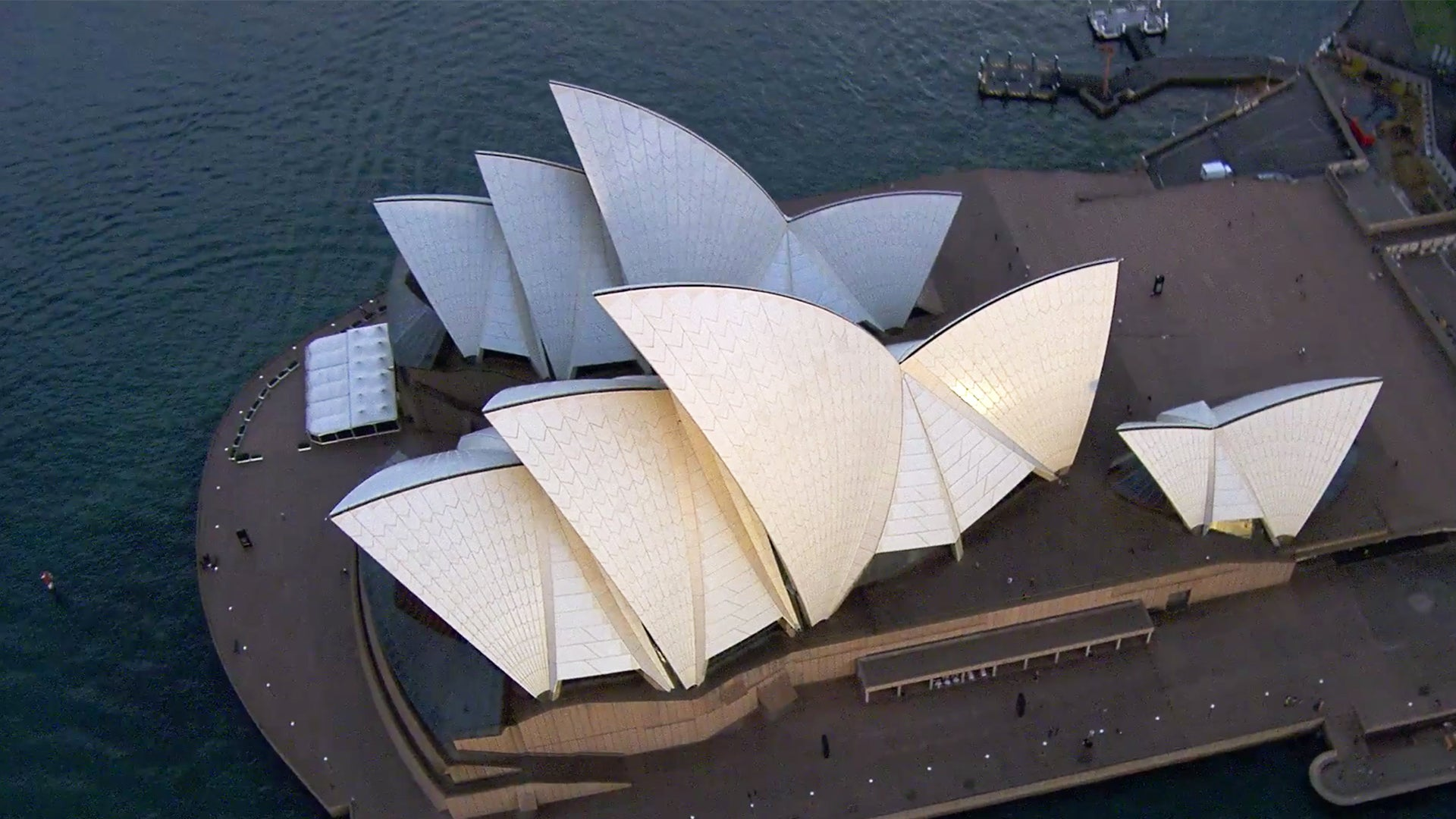 Aerial view of the Sydney Opera House
