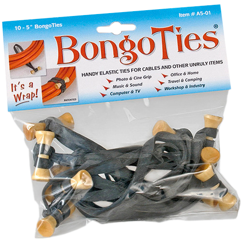 "BongoTies 5"" Black 10 Pack"