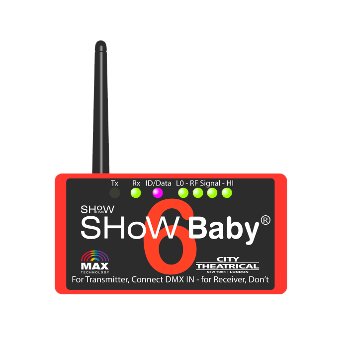 City Theatrical SHoW Baby 6 Wireless DMX