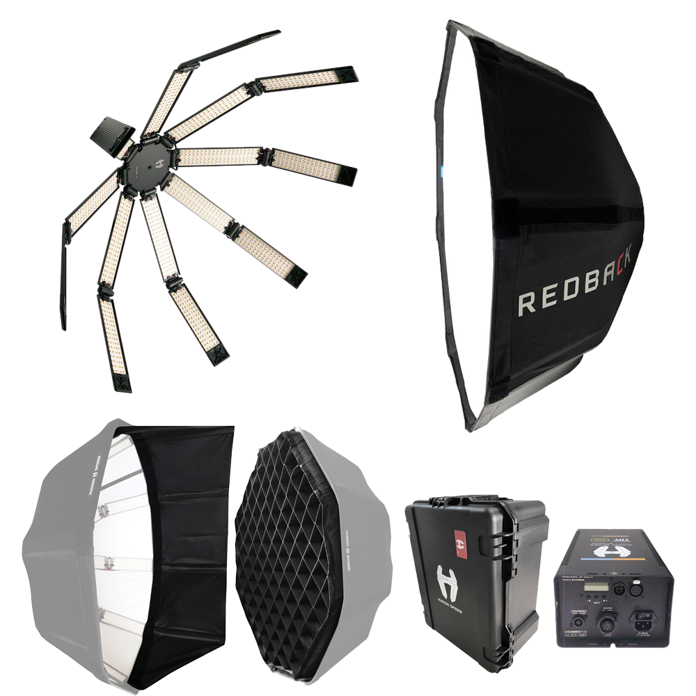 Hudson Spider Redback Collapsible LED Soft Light Deluxe kit