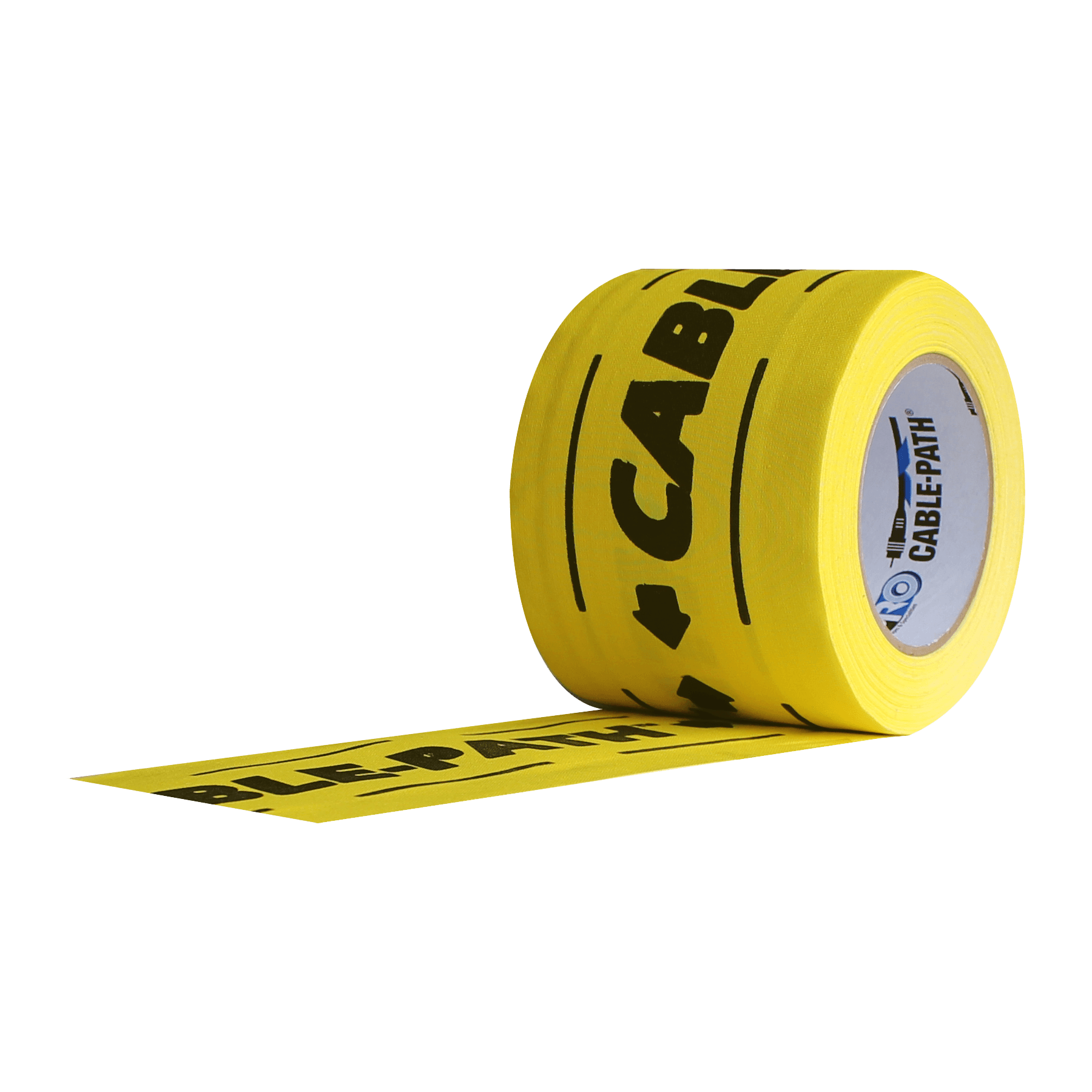 "Pro Tapes 6"" Printed Yellow Cable Path Tape"