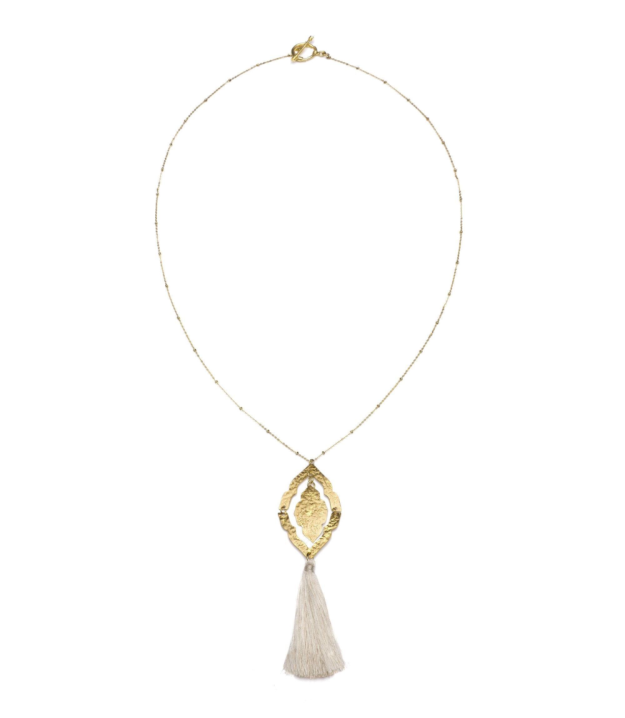 Nihira Ashram Window Necklace - Gold Tassel - Matr Boomie (Jewelry)
