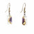 Coffee Bean Design Small Glass Earrings - Tili Glass