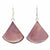 Pink Clam Shell Fan Drop Earrings