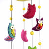 Felt Owl Mobile - Pink - Global Groove