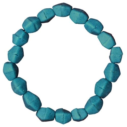 Teal Glass Pebbles Bracelet - Global Mamas