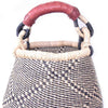 Small Bolga Pot Basket - Navy Neutral