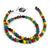 Face Mask/Eyeglass Paper Bead Chain, Colorful Round Beads