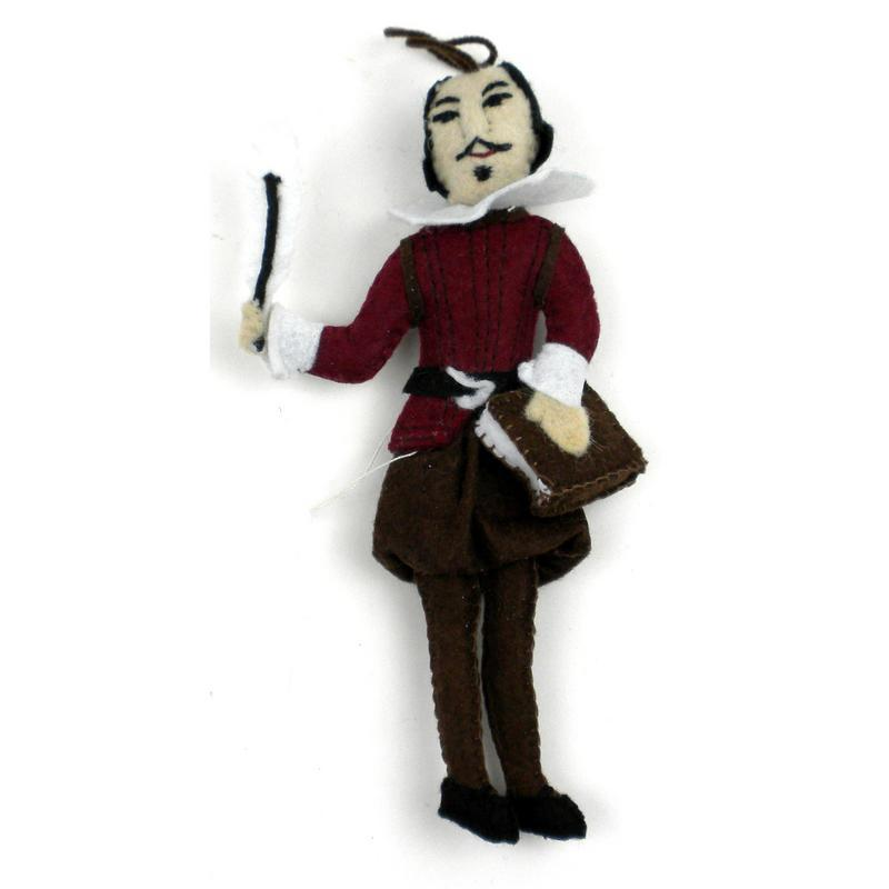 William Shakespeare Felt Ornament - Silk Road Bazaar (O)