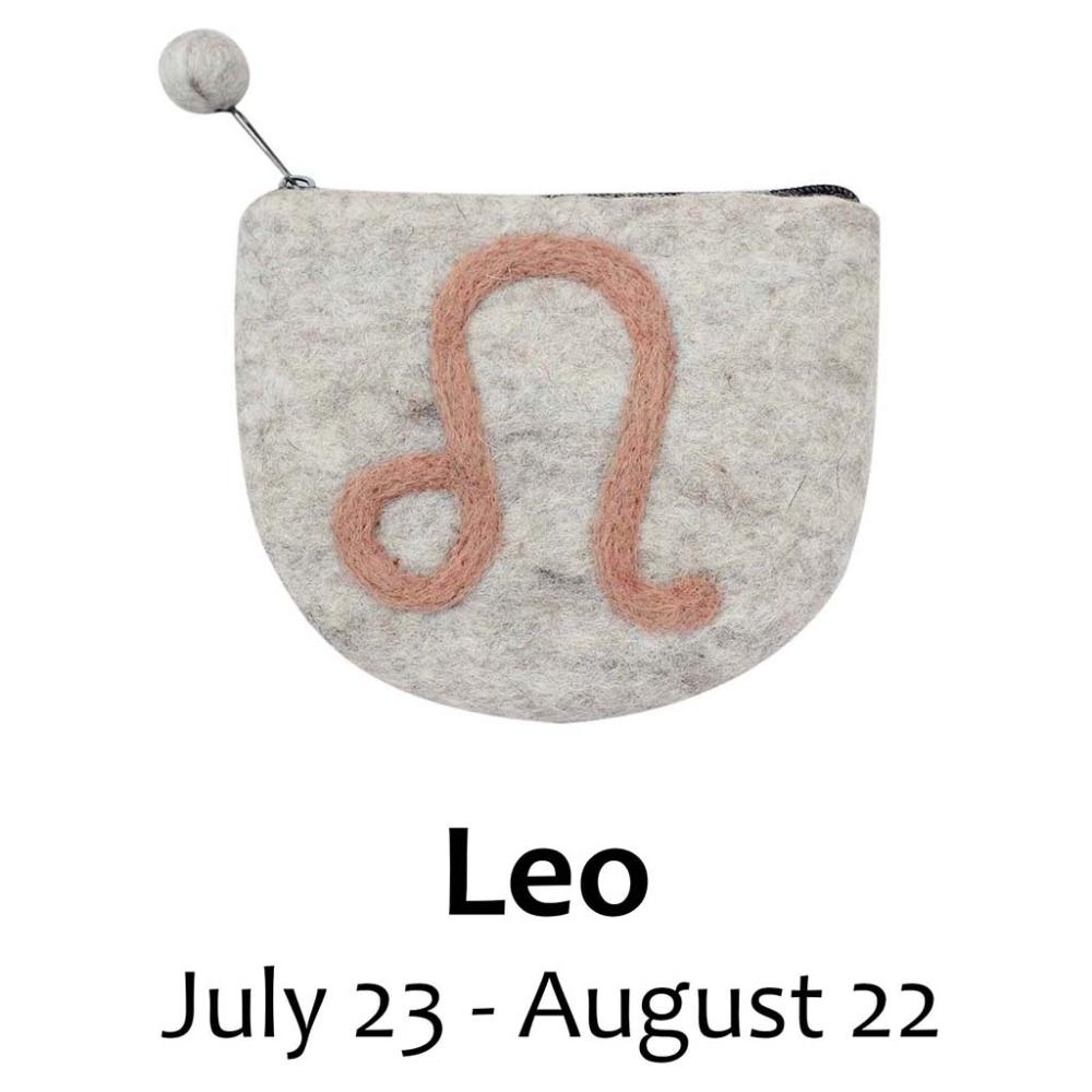 Felt Leo Zodiac Coin Purse - Global Groove