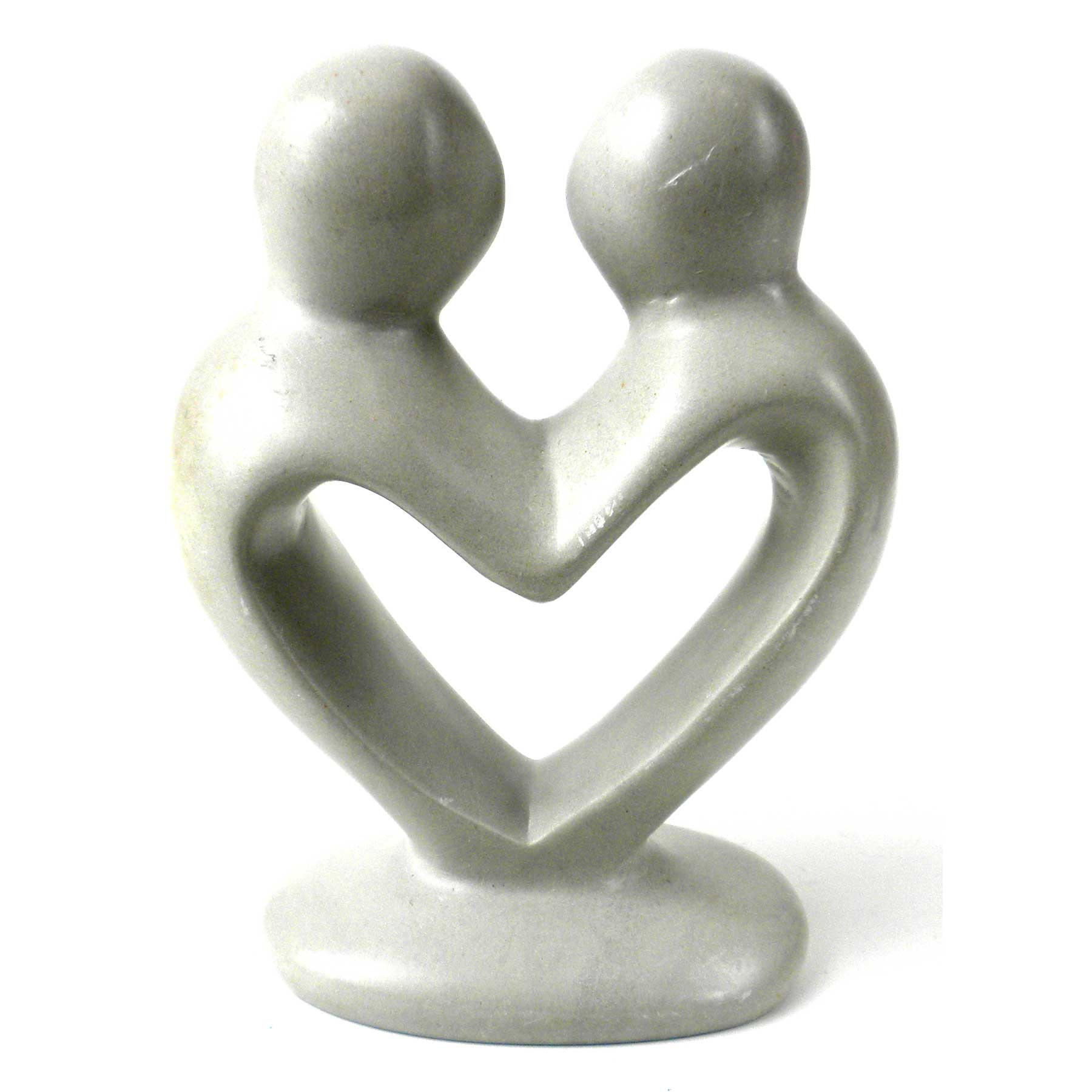 Soapstone Lovers Heart Natural - 4 Inch