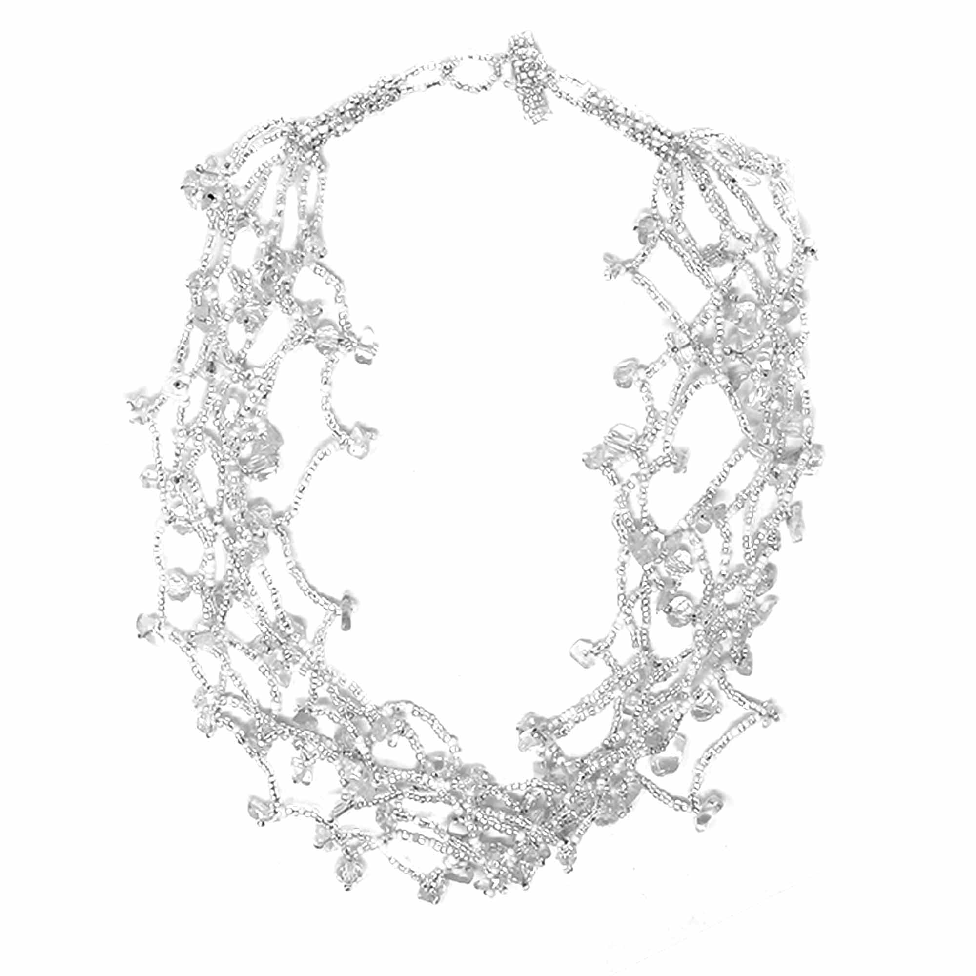 Chunky Stone Necklace - Silver