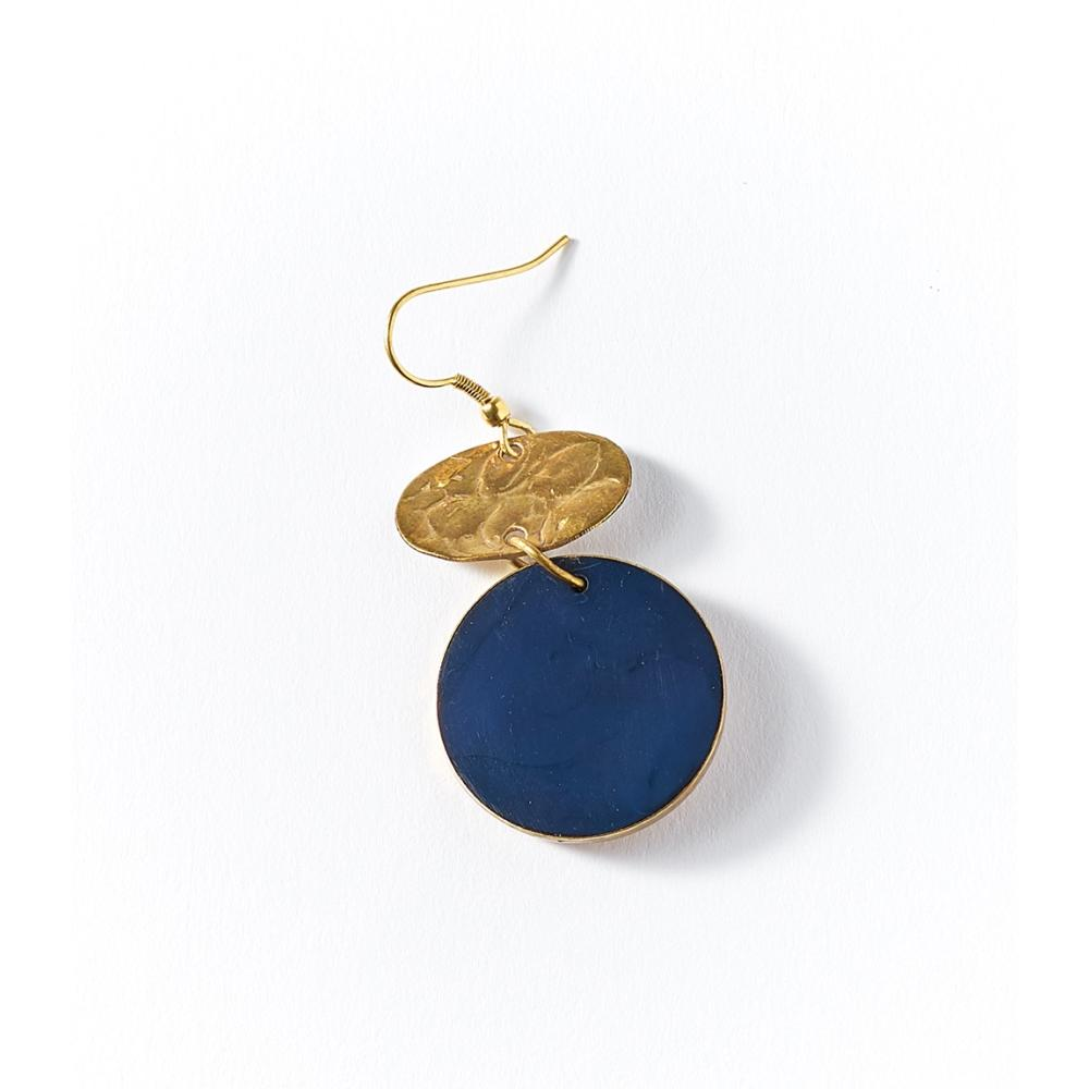Ria Earrings - Cobalt Drop - Matr Boomie