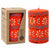 Hand Painted Candles in Orange Masika Design (pillar) - Nobunto