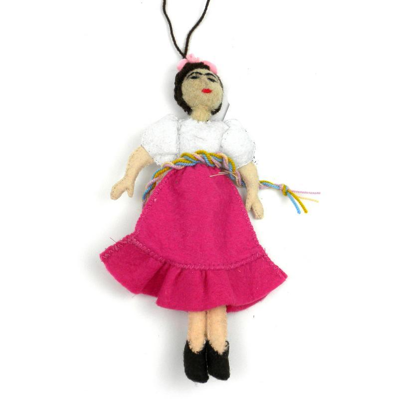 Frida Kahlo Felt Ornament - Silk Road Bazaar (O)
