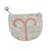 Felt Aries Zodiac Coin Purse - Global Groove