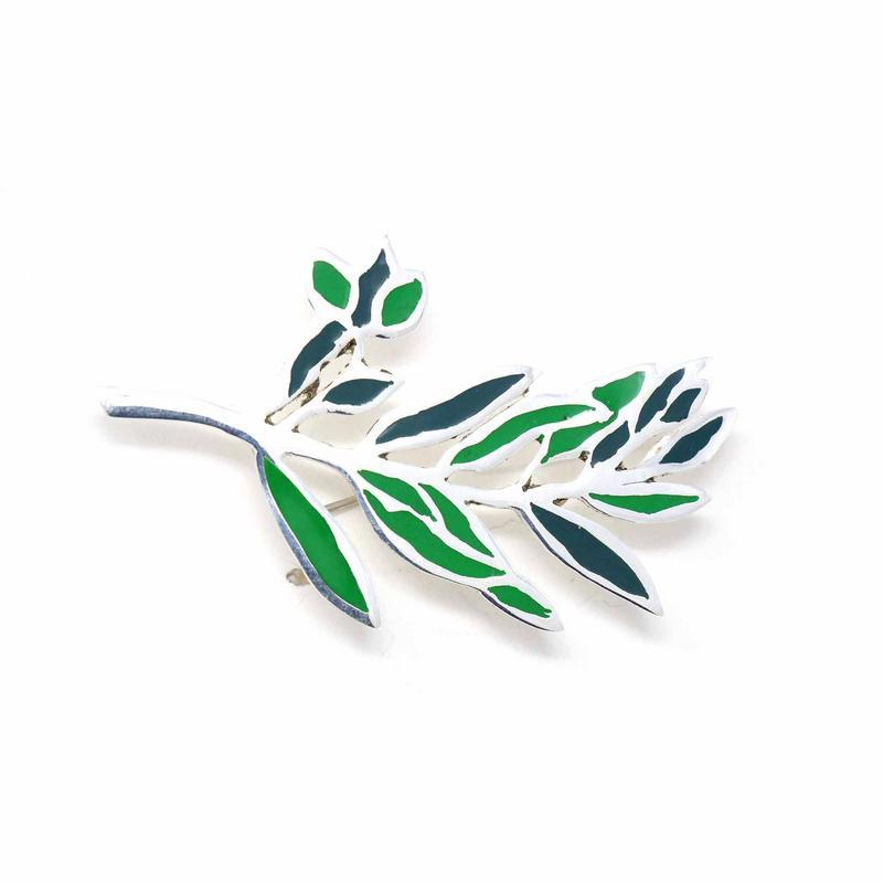 Brooch, Green Branch