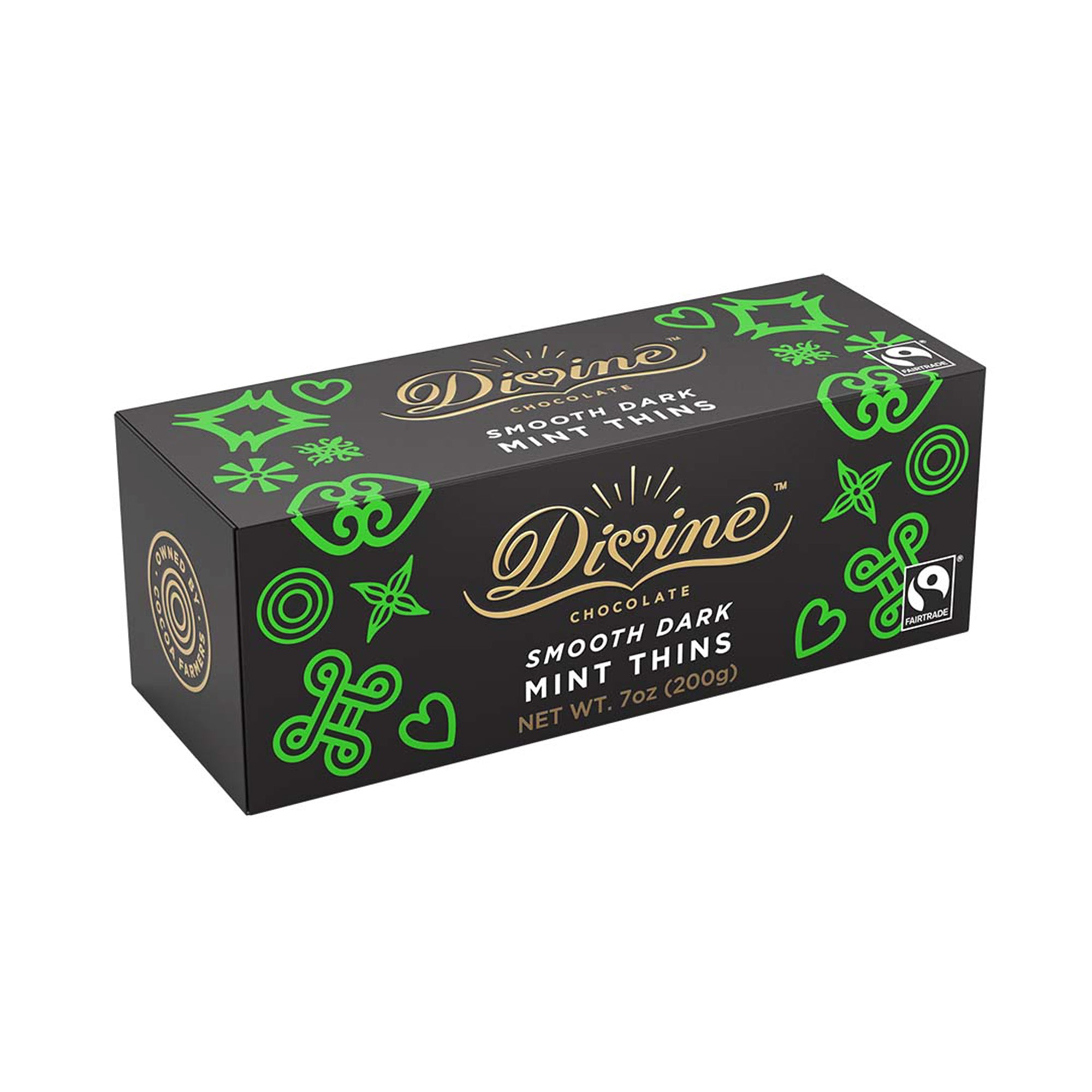 Dark Chocolate Mint Thins - Divine Chocolate -7 oz
