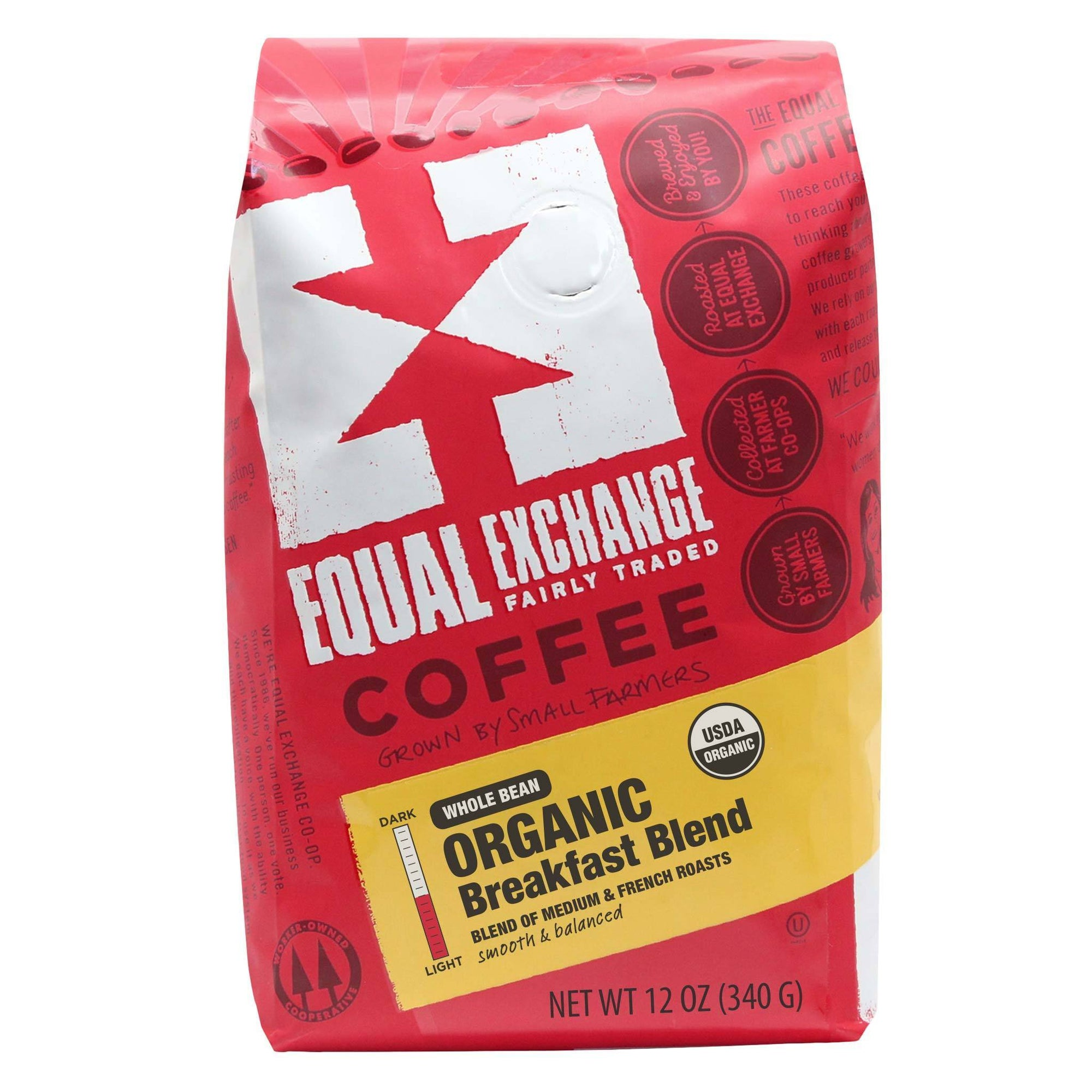 Breakfast Blend Organic Coffee 12oz- Equal Exchange - Whole Beans