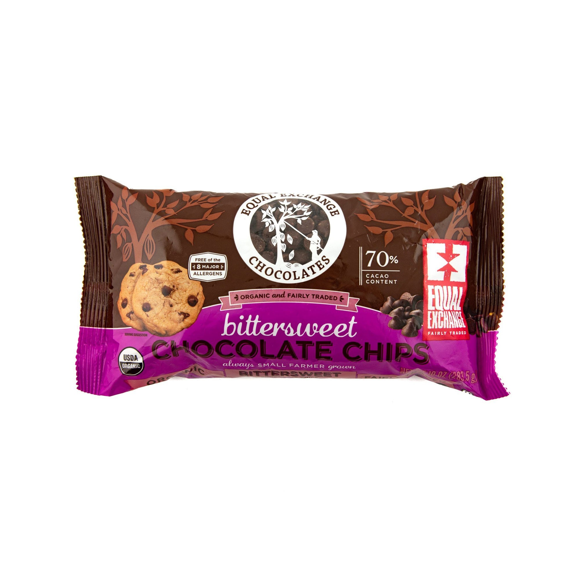 Organic Bittersweet Chocolate Chips - Equal Exchange - 10 oz
