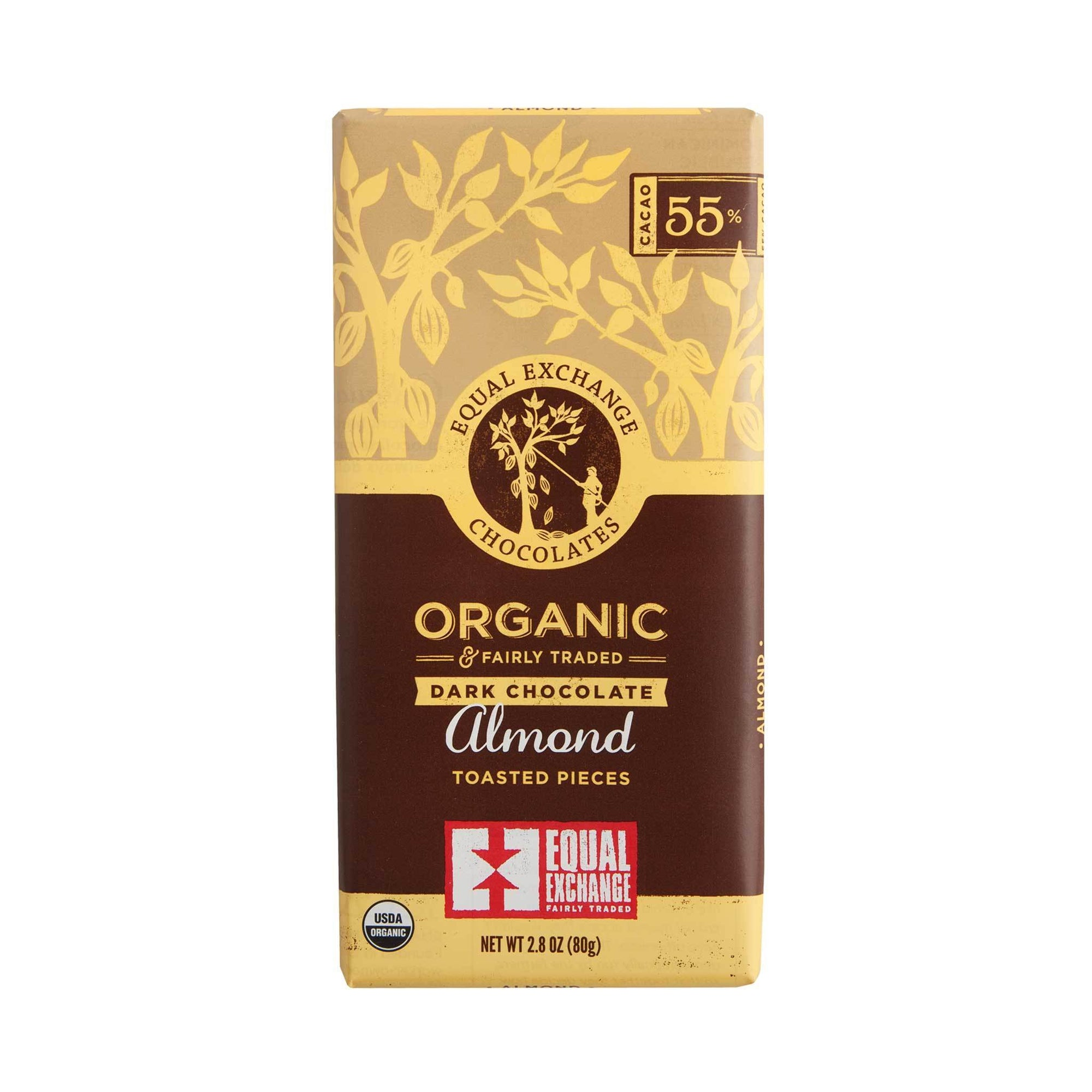 Dark Almond Organic Chocolate - Equal Exchange - 2.8 oz