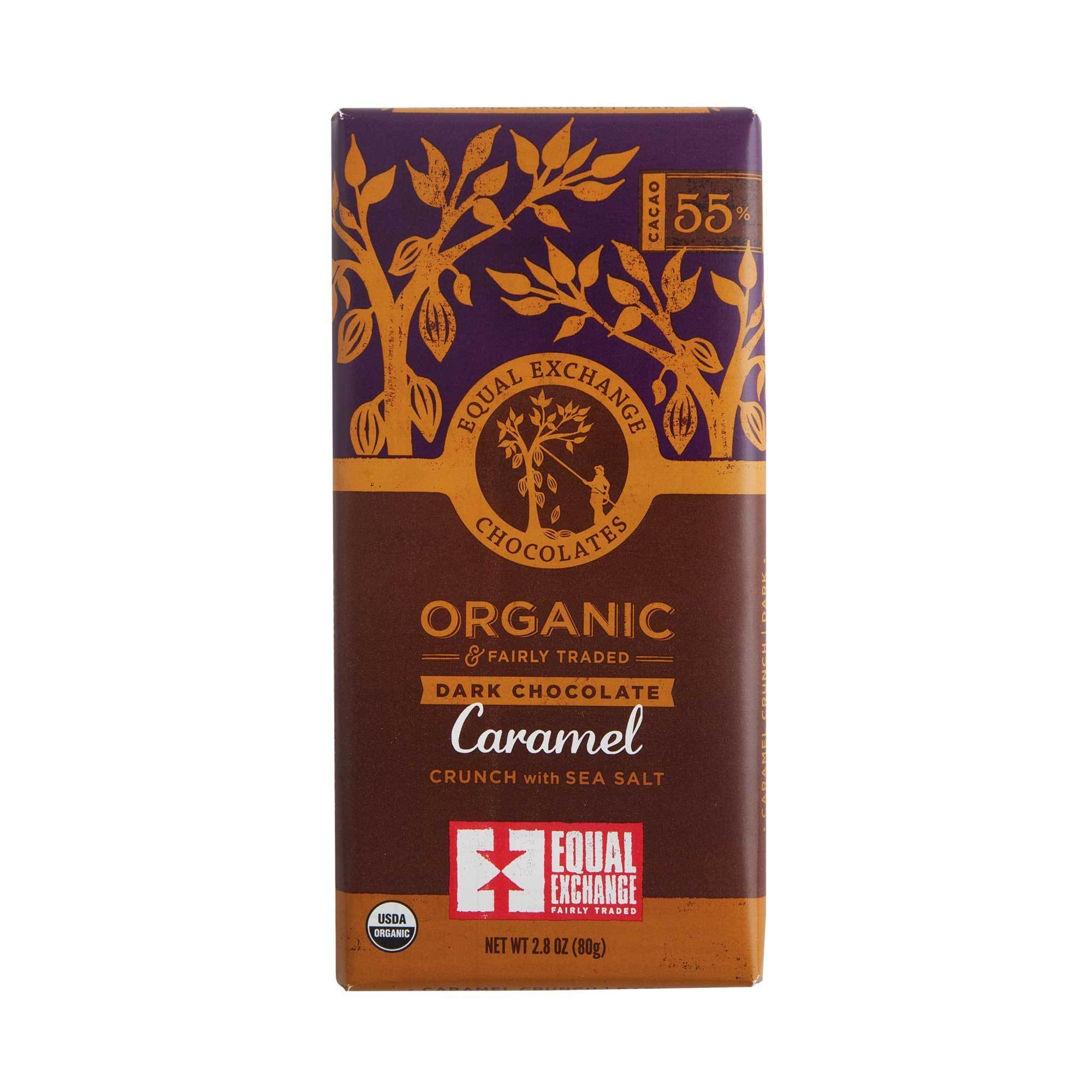 Caramel Crunch with Sea Salt Organic Dark Chocolate - Equal Exchange - 2.8 oz