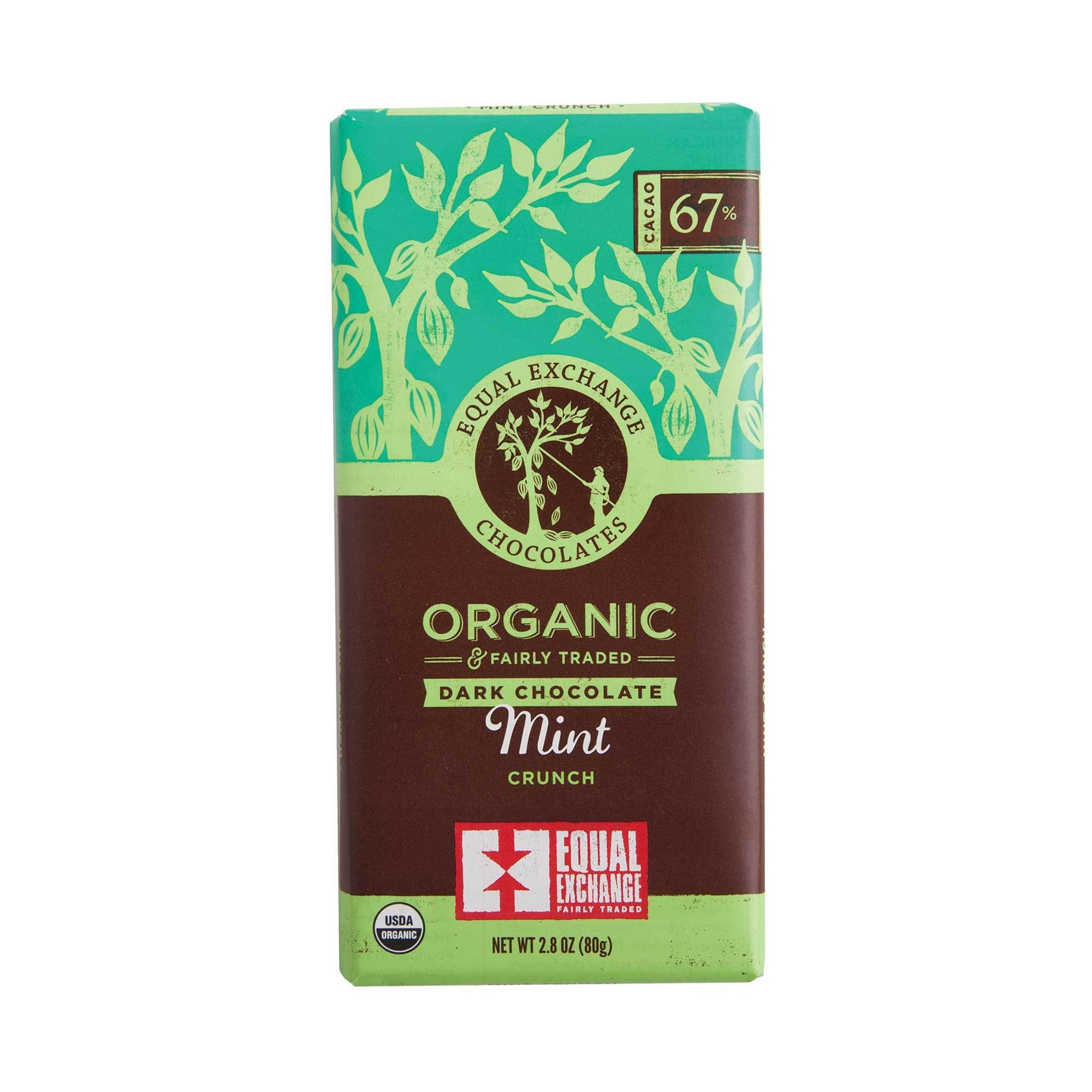 Mint Crunch Organic Dark Chocolate - Equal Exchange - 2.8 oz