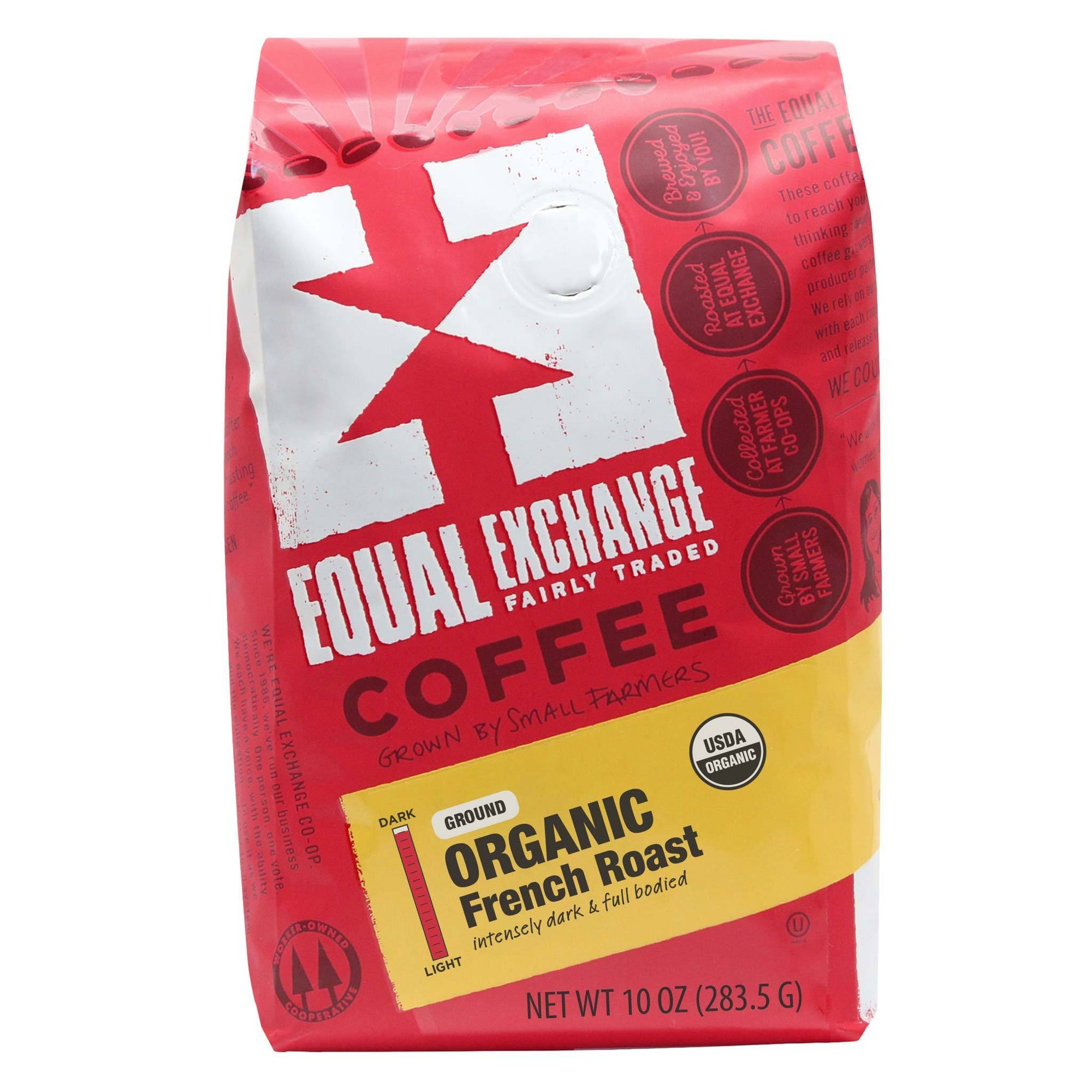 French Roast Organic Coffee 10oz- Equal Exchange - Ground (Drip)