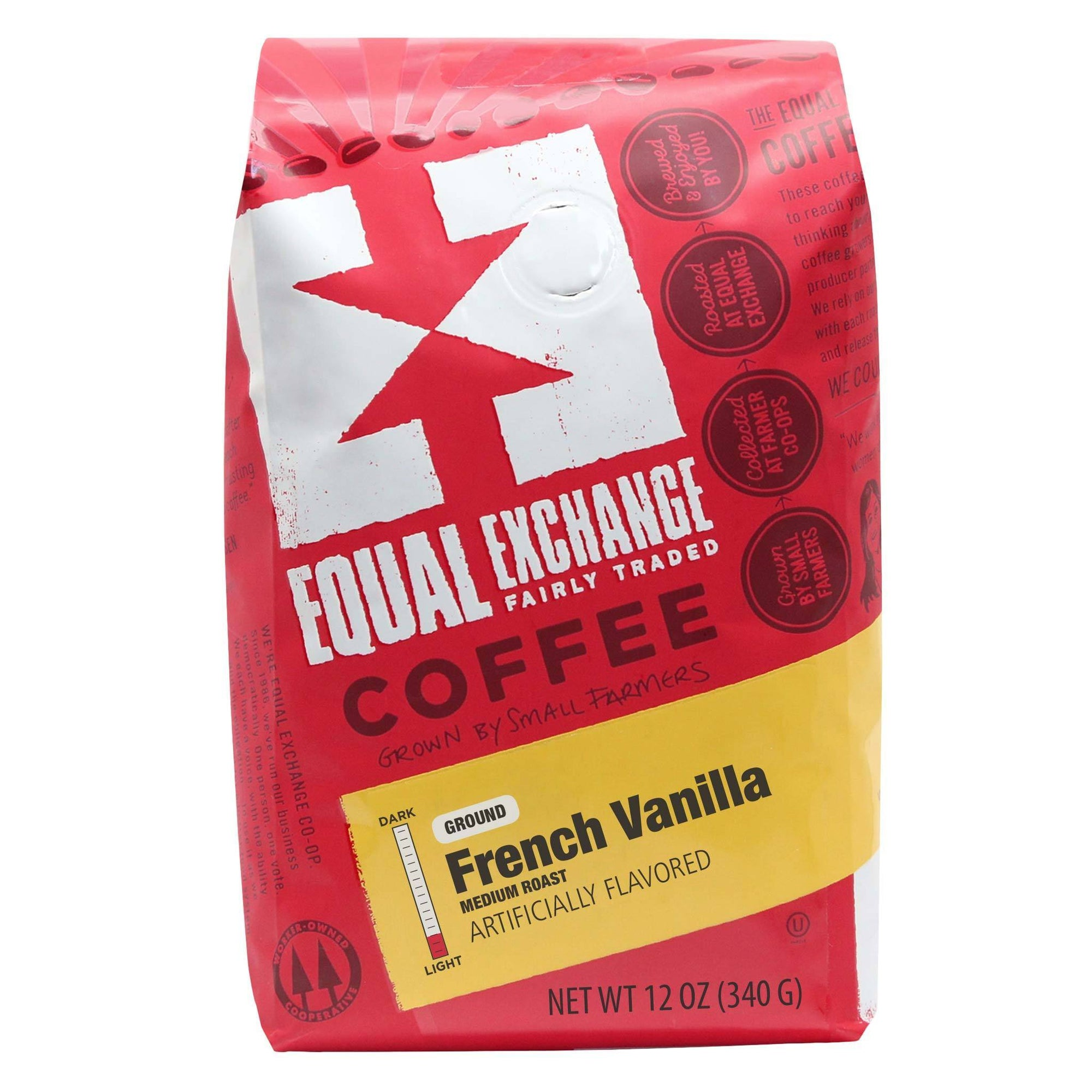 French Vanilla Organic Coffee 12oz- Equal Exchange - Ground (Drip)
