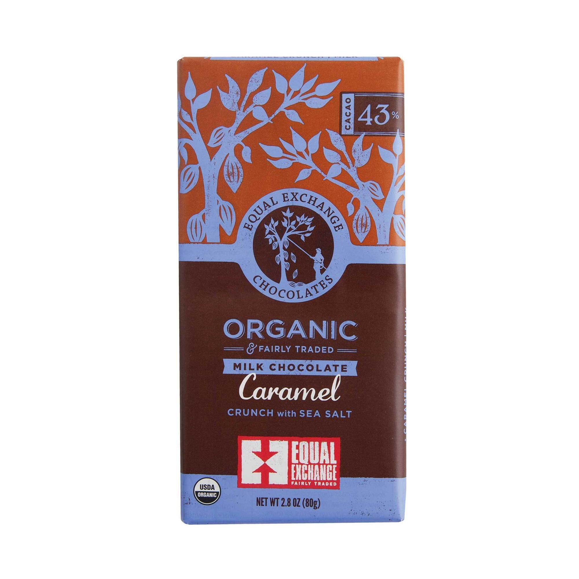 Caramel Crunch Organic Milk Chocolate - Equal Exchange - 2.8 oz