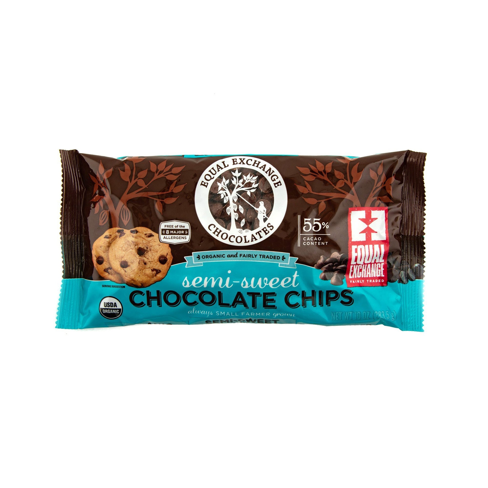 Organic Semi-Sweet Chocolate Chips - Equal Exchange - 10 oz