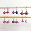 Purple Recycled Paper Drop Earrings