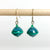 Green Recycled Paper Drop Earrings