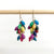 Musana Cluster Recycled Paper Multi-Color Earrings