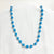 Blue Recycled Paper Necklace