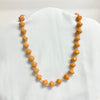 Orange Recycled Paper Necklace